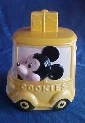 1950's Cookie Jars Mickey Mouse 1950's Cookie Jar  Disney Cookie Jars  Pinterest