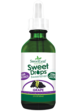 Sweetleaf Sweet Drops Sweetener Grape Ingredients Purified Water Organic Stevia Leaf Extract Natural Flav Stevia Liquid Stevia Grape Juice Concentrate