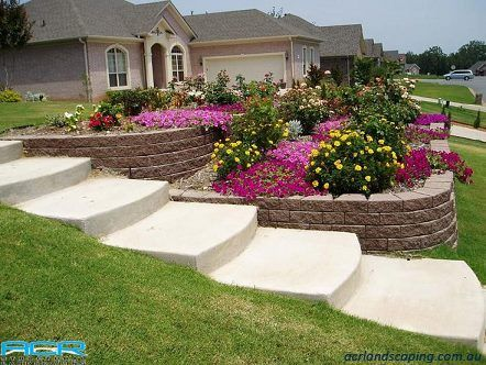 If You Re Stuck With A Sloping Front Yard A Retaining