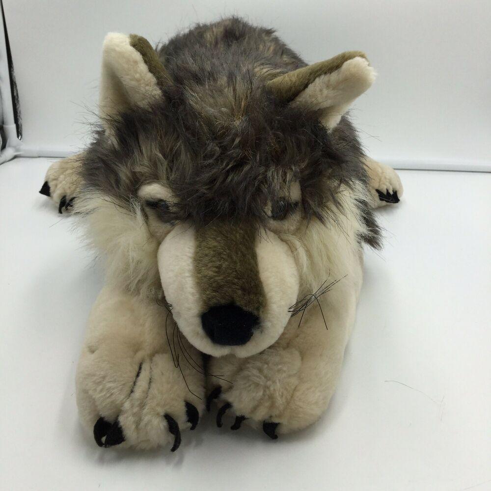 K M International Wolf Plush 22 Large Stuffed Animal Km Wolf Stuffed Animal Wolf Plush Monkey Stuffed Animal [ 1000 x 1000 Pixel ]