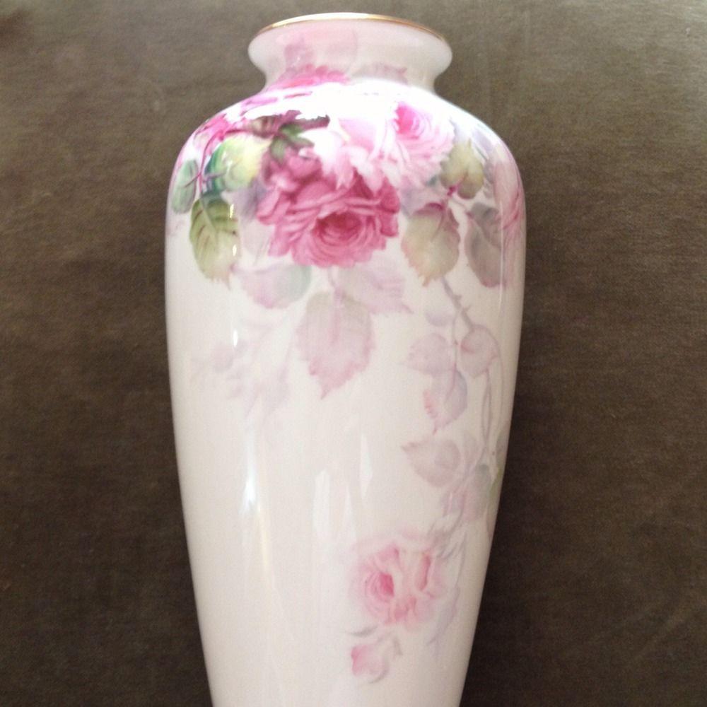 Noritake Bone China Nippon Toki Kaisha Japan Floral Vase--Excellent Condition