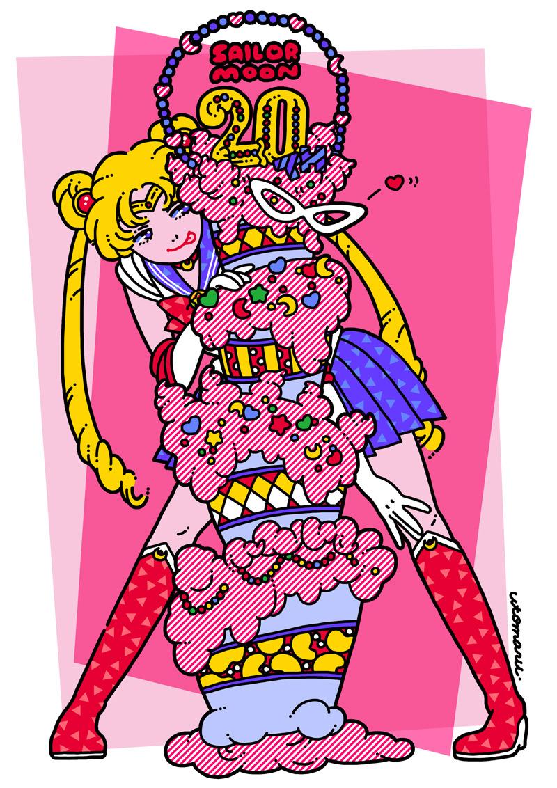 Utomaru Is A Freelance Illustrator Graphic Designer Based In Tokyo Japan Contact Utomaru Job Gmail Comweb Dddddd Moo Sailor Moon Art Moon Art Cute Art
