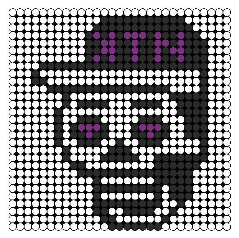 Kill The Noise Perler Bead Pattern / Bead Sprite | Patterns | Pinterest