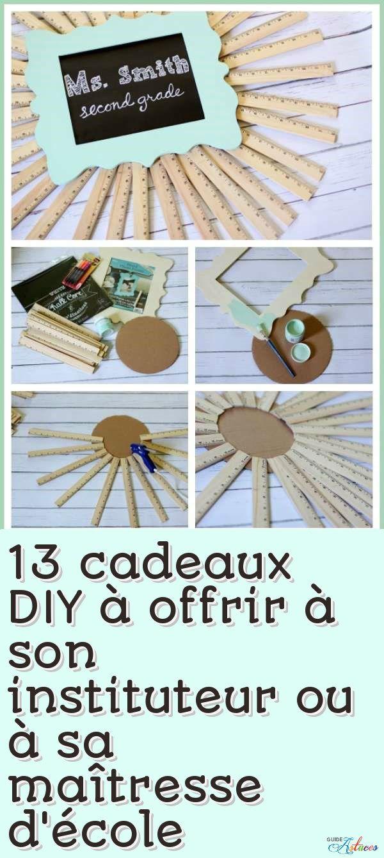 13 cadeaux diy offrir son instituteur ou sa ma tresse d 39 cole bricolage pinterest. Black Bedroom Furniture Sets. Home Design Ideas