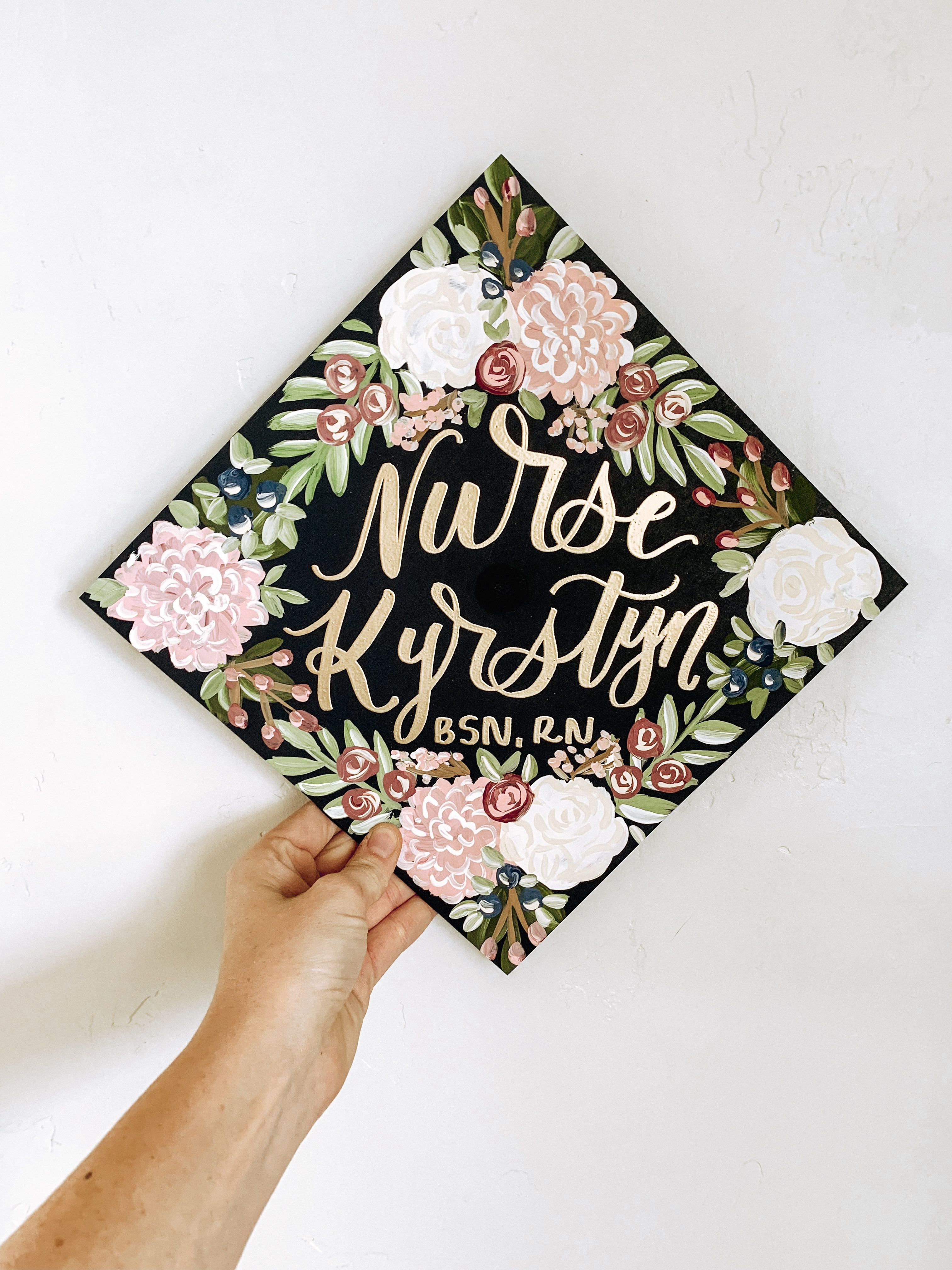Grad Cap Toppers Graduation Cap Decoration Bsn Graduation Cap Nurse Graduation Cap Designs