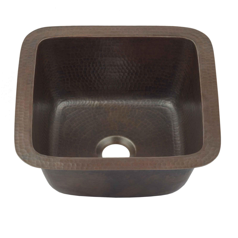 Sinkology Pollock Dual Copper 12 Copper Bar Prep Sink In Aged Copper Black 12 X 12 X 5 Copper Bar Prep Sink Prep Sink Sink Copper Bar