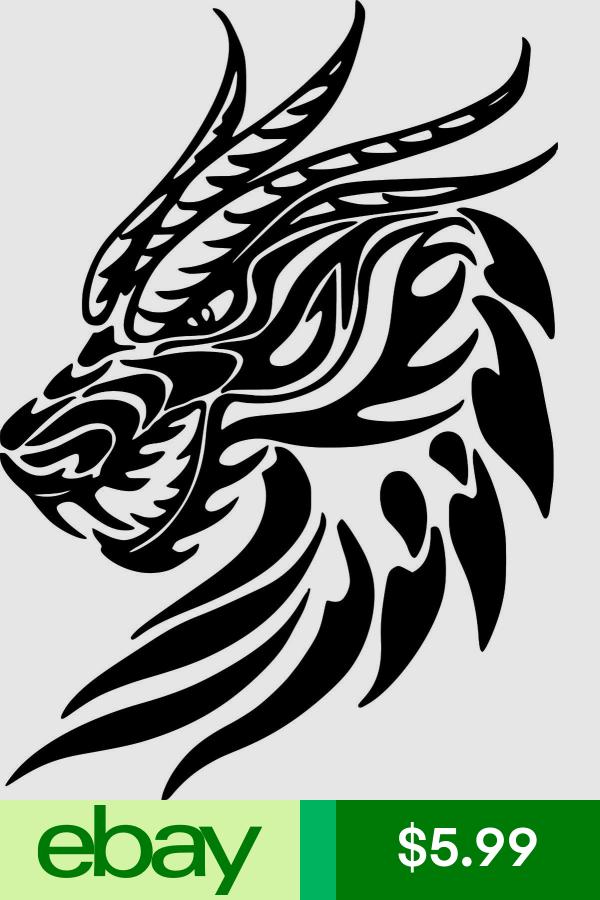 Tribal dragon Head Car Decal Sticker