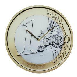 Reloj de Pared forma moneda Euro