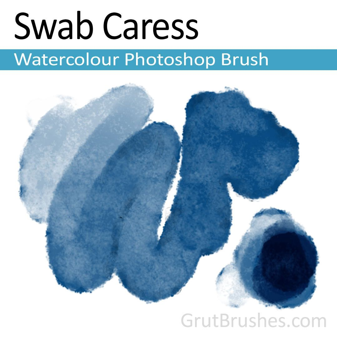 Swab Caress Watercolour Photoshop Brush In 2020 Photoshop