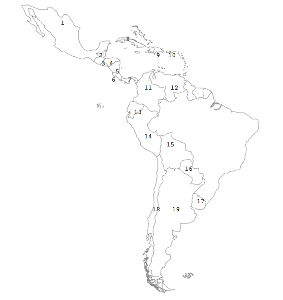 Spanish Speaking Countries And Their Capitals South America