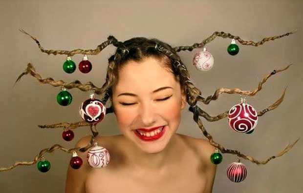Christmas and New Year hairstyles: original ideas! - Bob hairstyles #1weihnachtstaglustig
