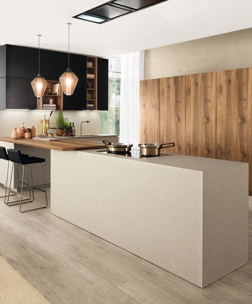 Fitted Kitchen With Island FILOANTIS By Euromobil Design Roberto Gobbo