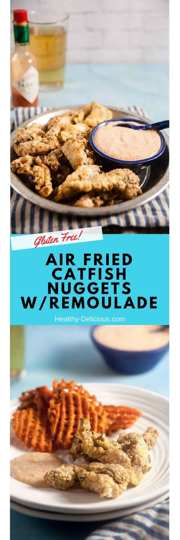 Pecan crusted catfish nuggets come out extra crispy when