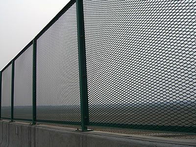 Expanded Metal Security Fences Are Installed On The Passageway Of Highway Expanded Metal Security Fence Metal Fence Gates