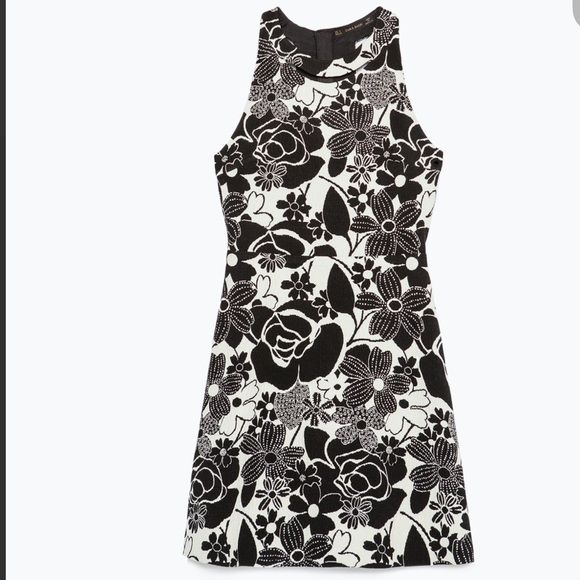 Nwt zara jacquard floral dress size l nwt white floral dress zara nwt zara jacquard floral dress size l mightylinksfo