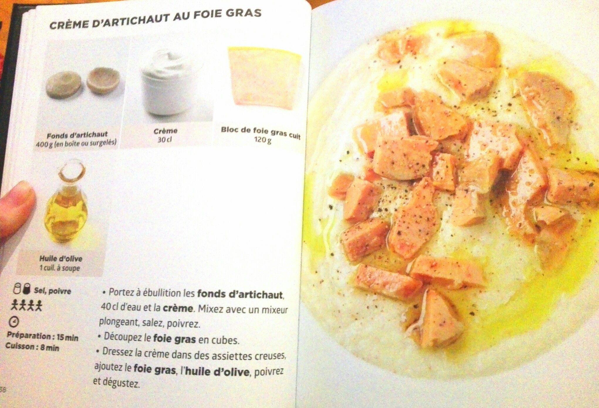 Crème d'artichaut au foie gras | Artichaut, Foie gras, Creme