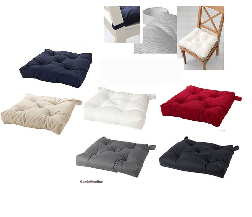 Ikea Chair Cushion Pad Malinda Black Beige Red Kitchen Indoor Office New Indoor Chair Cushions Ikea Chair Cushions Chair Cushions