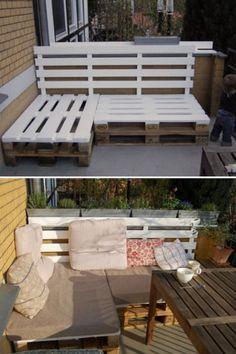 Couch Aus Paletten Fur Draussen Palets Paletten Couch Balkon