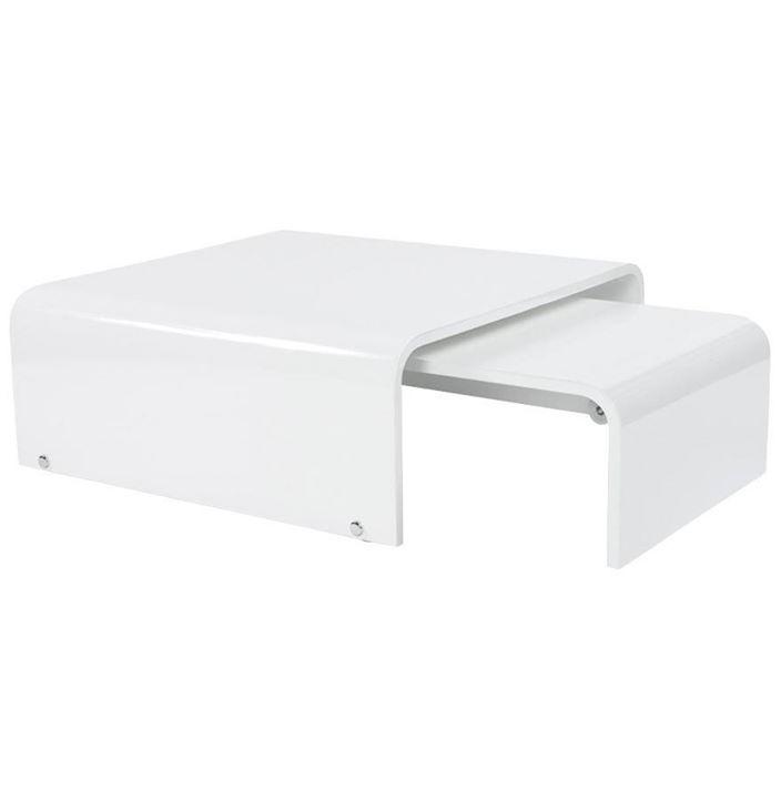 Utilisez La Table Basse Retractable Design En Bois Laque Maree Pour Gagner De La Place Lors De Rec Table Basse Table Basse Modulable Table Basse Design Italien