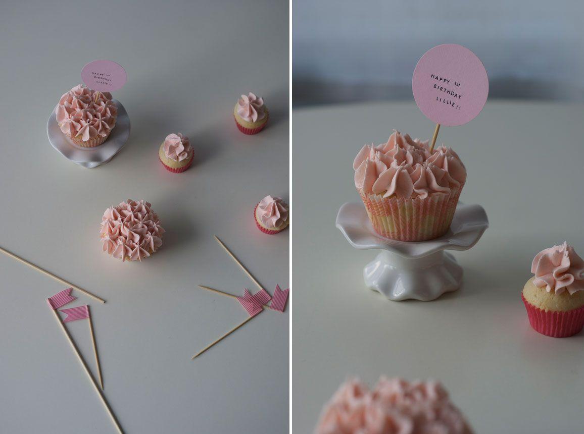 Sweet Lillie's 1st Ruffly Pink Cupcake Birthday | Coco Cake Land - Cake Tutorials, Cake Recipes, Cake Blog, Cakes Vancouver