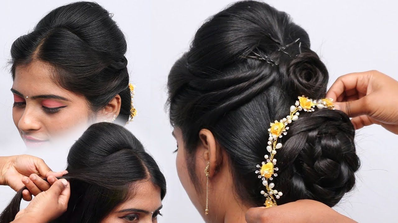 Beautiful Juda Hairstyle For Wedding And Party Easy Hairstyle Updo H Easy Hairstyles Cute Hairstyles Bun Hairstyles