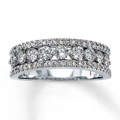 14k White Gold 1 Carat T W Diamond Anniversary Ring Benji Better Start Saving 10 Year Annive Diamond Anniversary Diamond Anniversary Rings Anniversary Rings