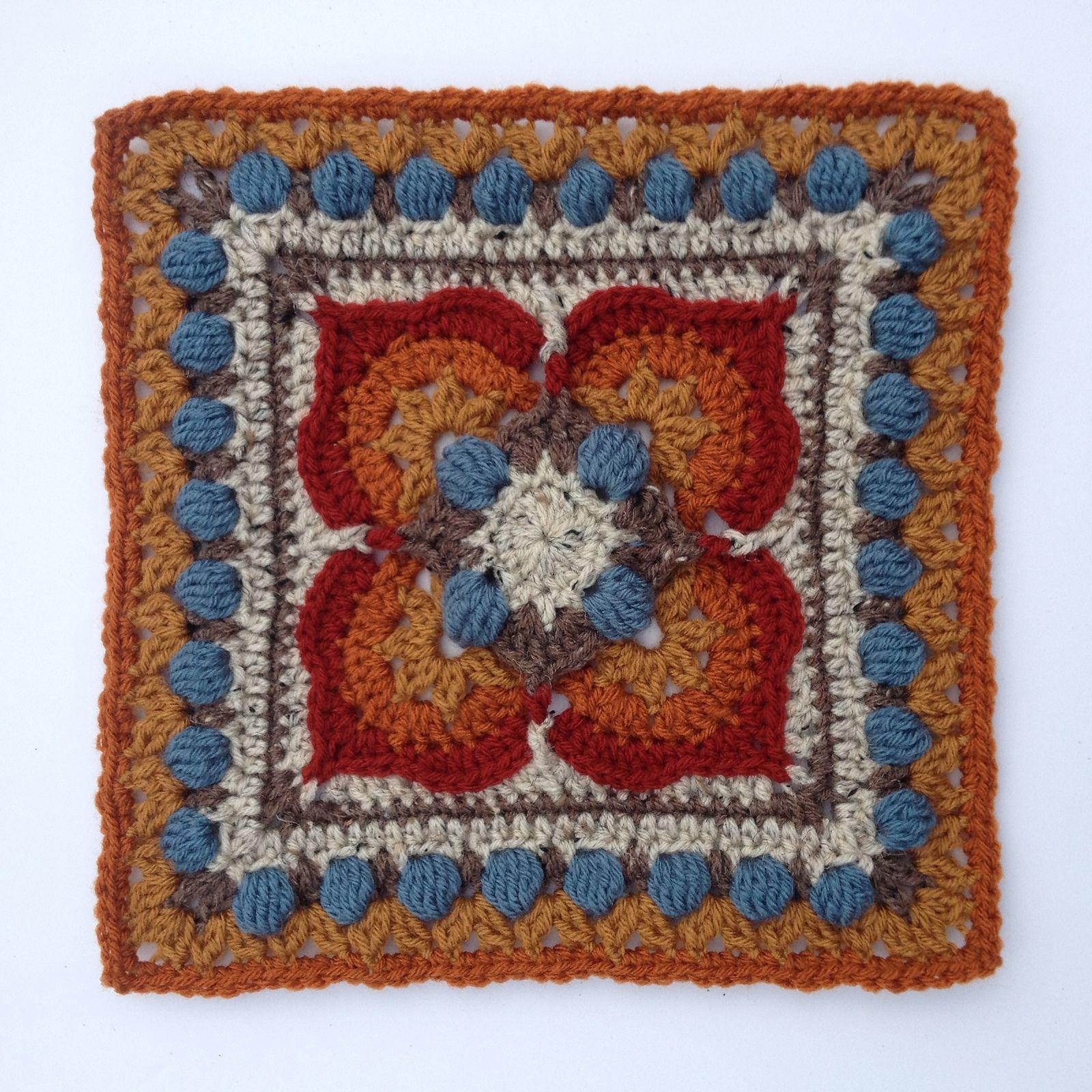 Ilsa pattern by Polly Plum | Cuadrados, Ideas de ganchillo y Manta