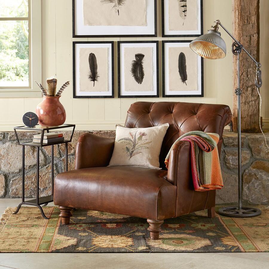 Alcazar Leather Club Chair | Robert Redfordu0027s Sundance Catalog