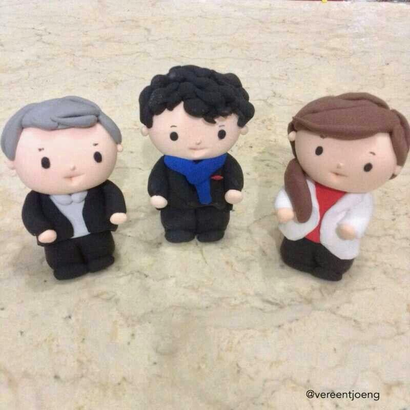John, Sherlock and Molly ♥ made from clay! Courtesy of @Verentjoeng ♥