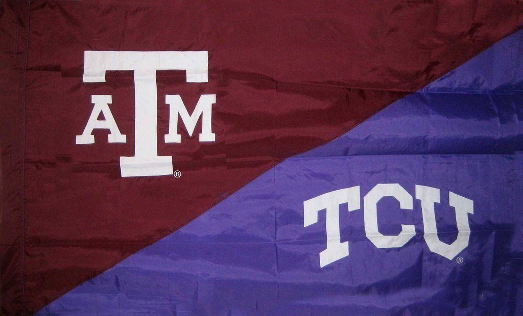 Texas A M Tcu House Divided Flag Sleeve House Divided Flags