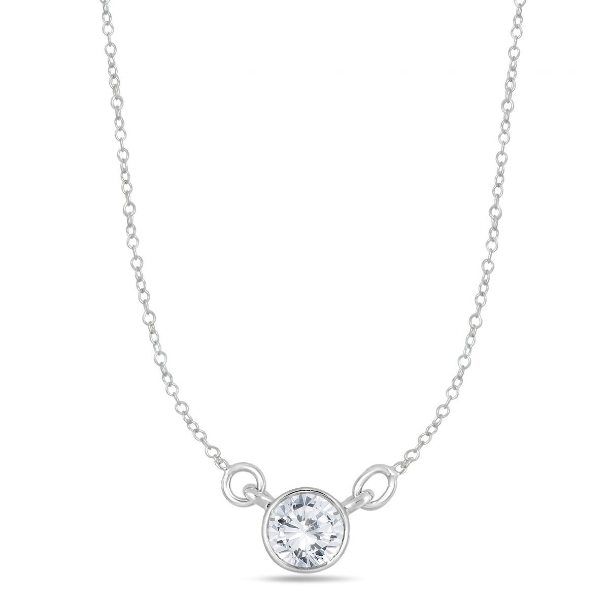 Marquee jewels k white gold ct tdw bezelset diamond solitaire