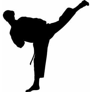 free karate martial arts silhouette vector clip art karate rh pinterest com martial arts belt clipart martial arts clipart png