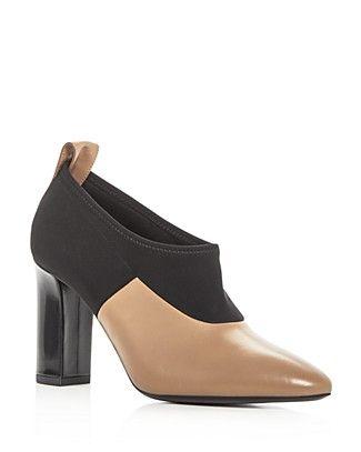 e80f88c0b9f Via Spiga Women s Bayne Leather Color Block High Heel Booties