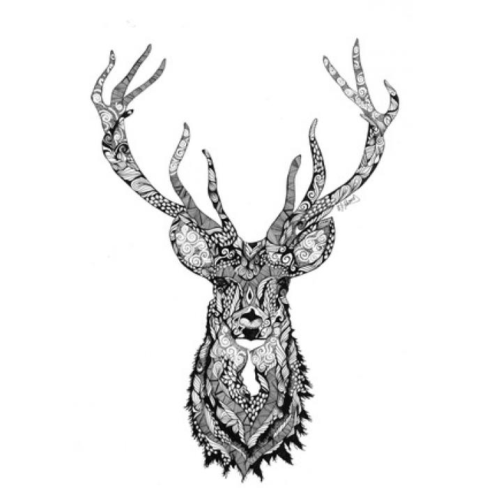 Wall Art Prints   Deer Forest Print