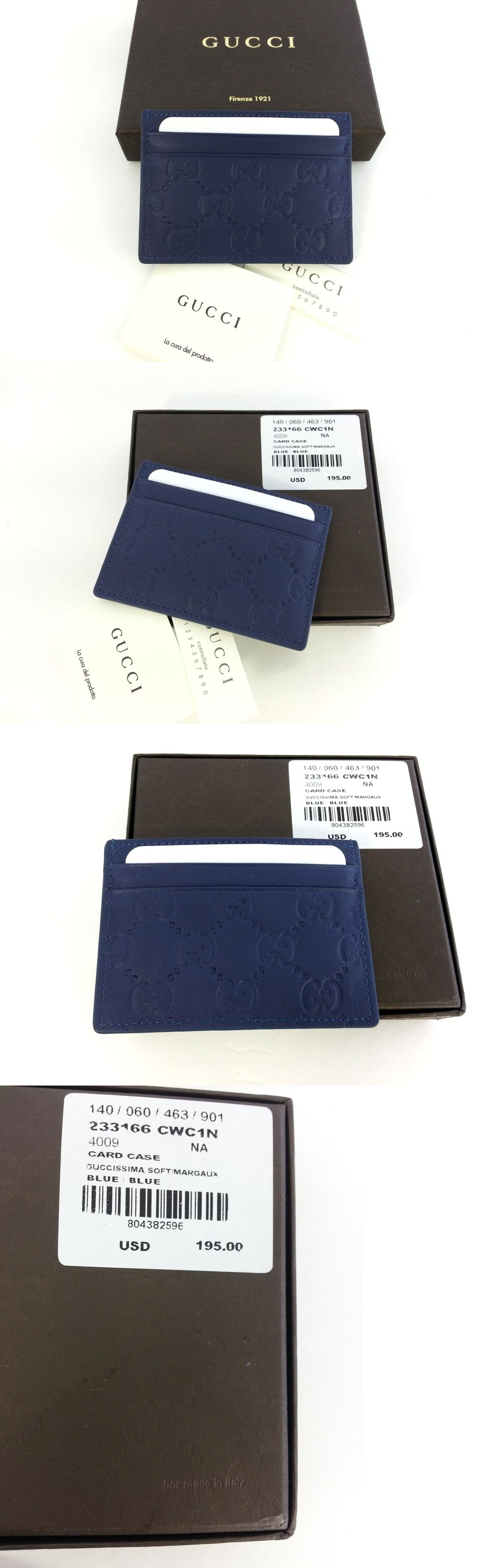 Business and Credit Card Cases 105860: Authentic Gucci Guccissima ...