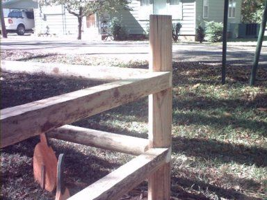 How To Build A Sturdy Landscape Timber Fence By Kevin W Byrom