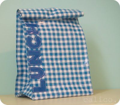 oilcloth lunch sack tutorial. (I think I would add a strap) | Craft ...