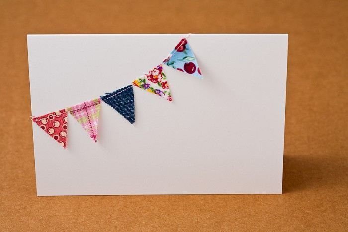 Fabric Bunting Cards
