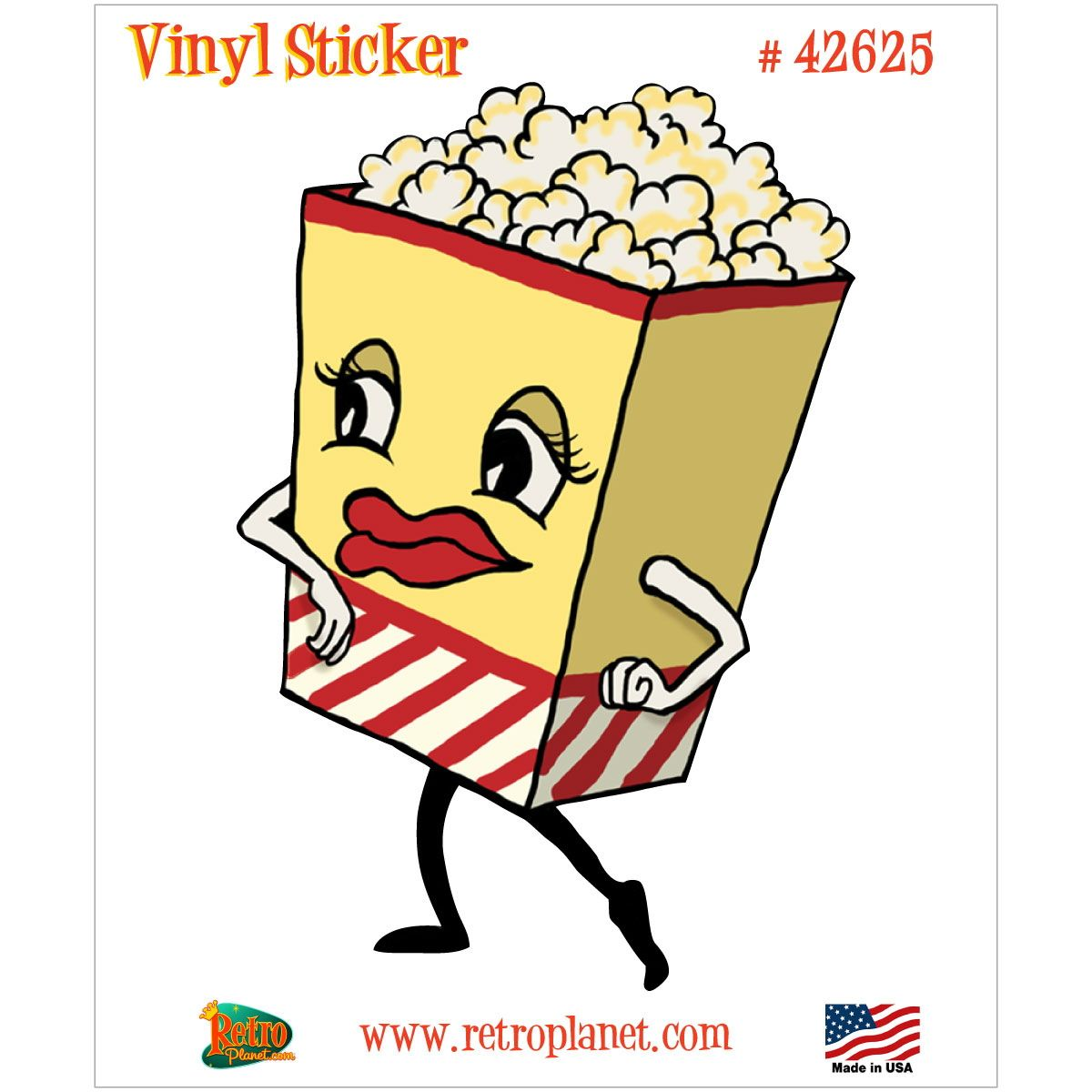 Popcorn Box Dancing Snack Vinyl Sticker | Movie popcorn, Cinema and ...