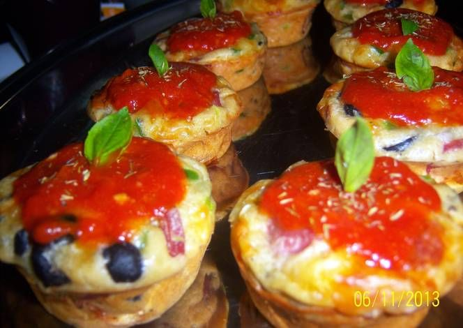 Sobzee's Pizza Cup Cakes Recipe -  How are you today? How about making Sobzee's Pizza Cup Cakes?