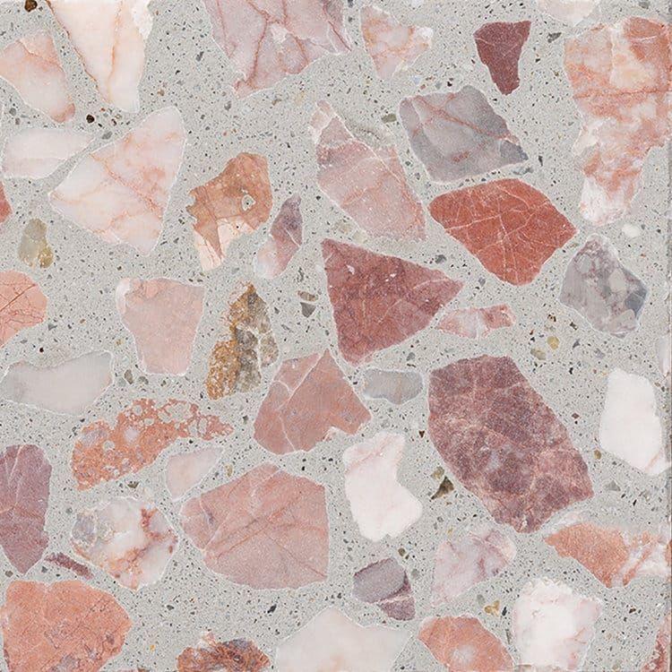 Pink And Grey Terrazzo Pattern Terrazzo Terrazzo Tile
