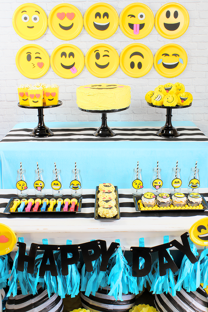 Emoji Party Idea Backdrop Games Favors Etc