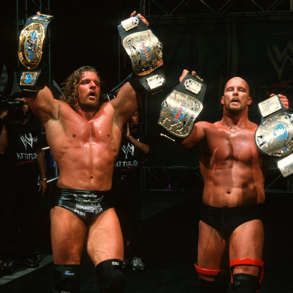 Photos From Every Stone Cold Championship Stone Cold Steve Steve Austin Famous Wrestlers