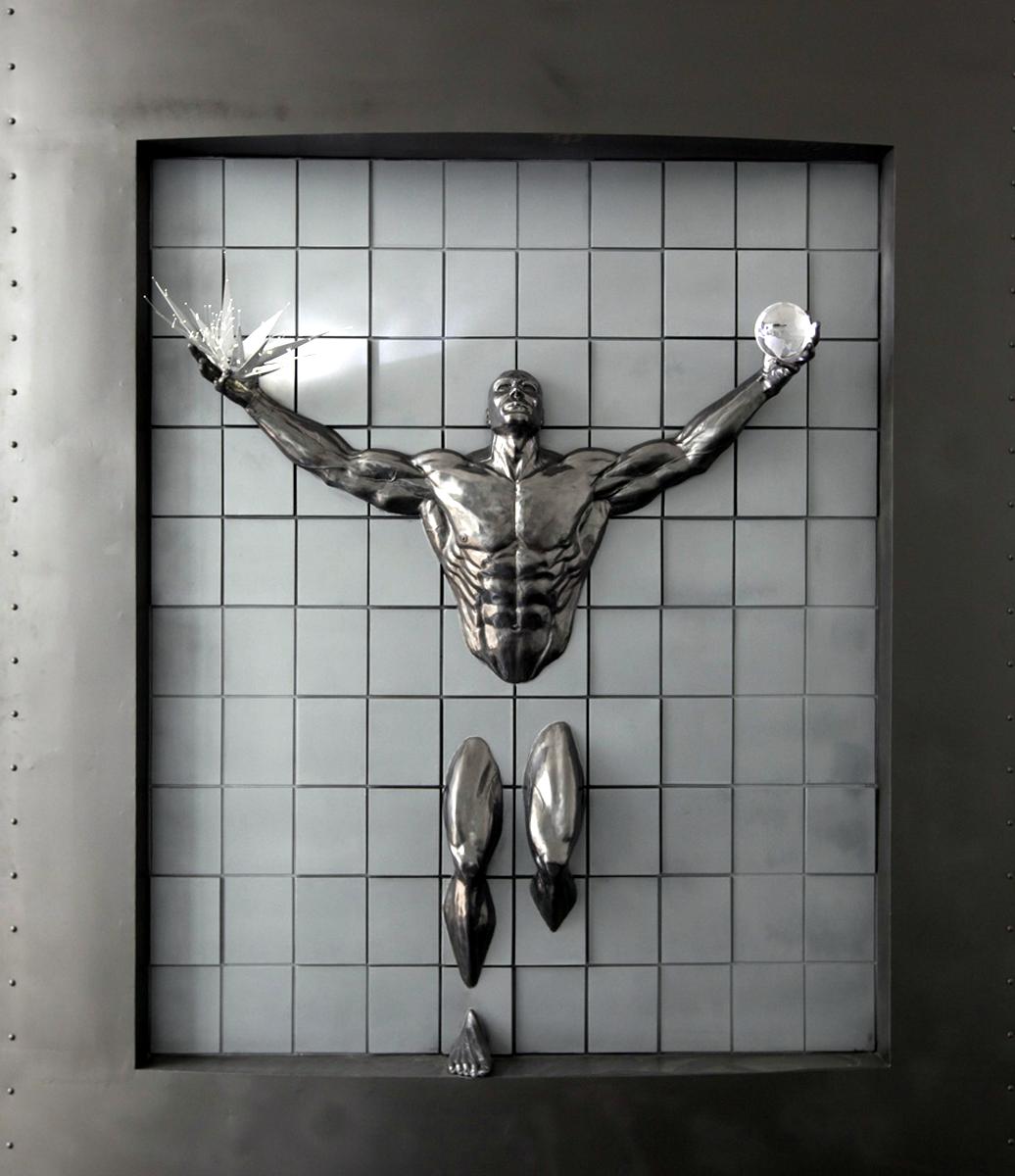 """EL HOMBRE TECNOLÓGICO"""" Escultura por Walter Peter Brenner Marmolina ..."""