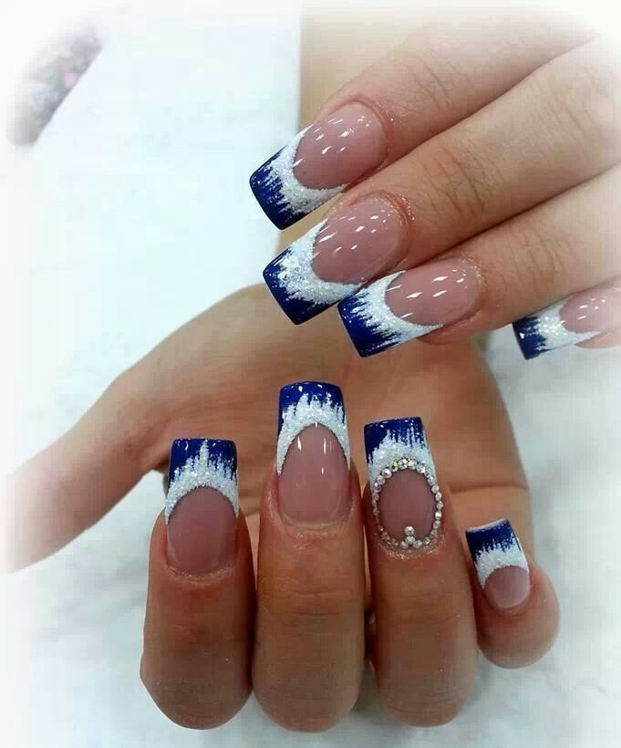 Nice icy french for a winter wedding. | Nail Art I love | Pinterest ...