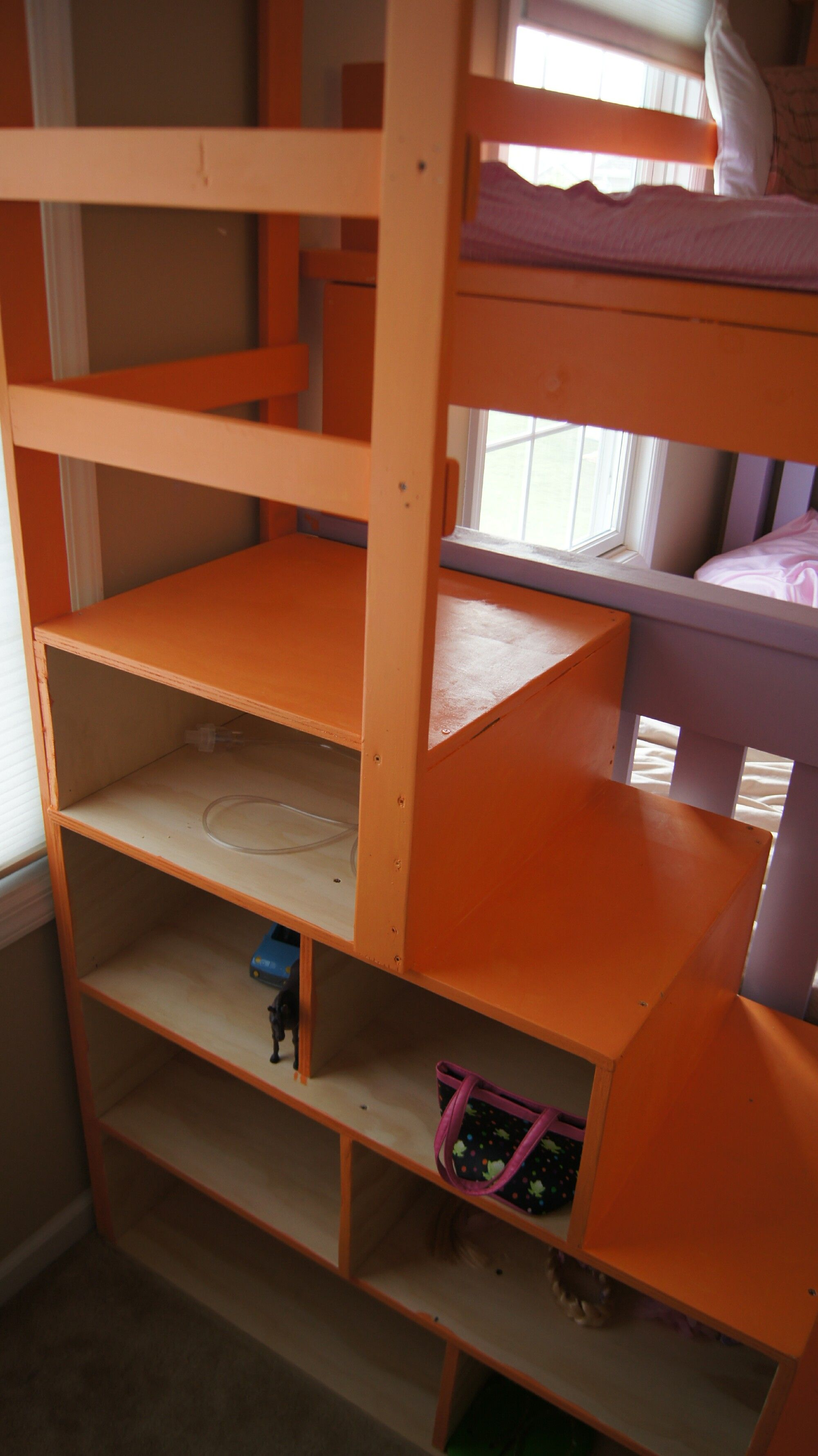 ana white free and easy diy furniture plans to save you money adapted to make twin over full with another twin lofted stairs