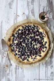 Blaubeer-Tarte mit Crème fraîche-Guss #boissonsfraîches