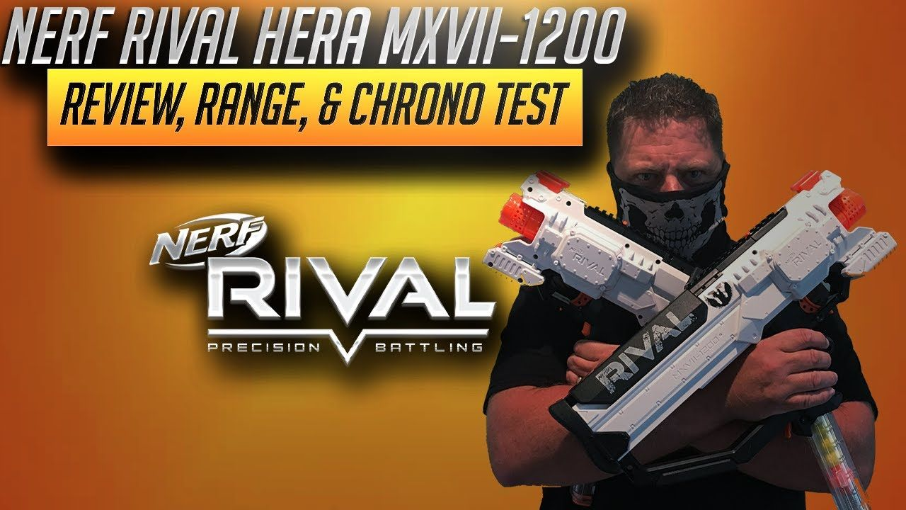 [Nerf Blaster Review] Nerf Rival Hera MXVII-1200 Review, Range, & Chrono  Test is the focus of today's Nerf gun video here on the Cj Nerf Channel.