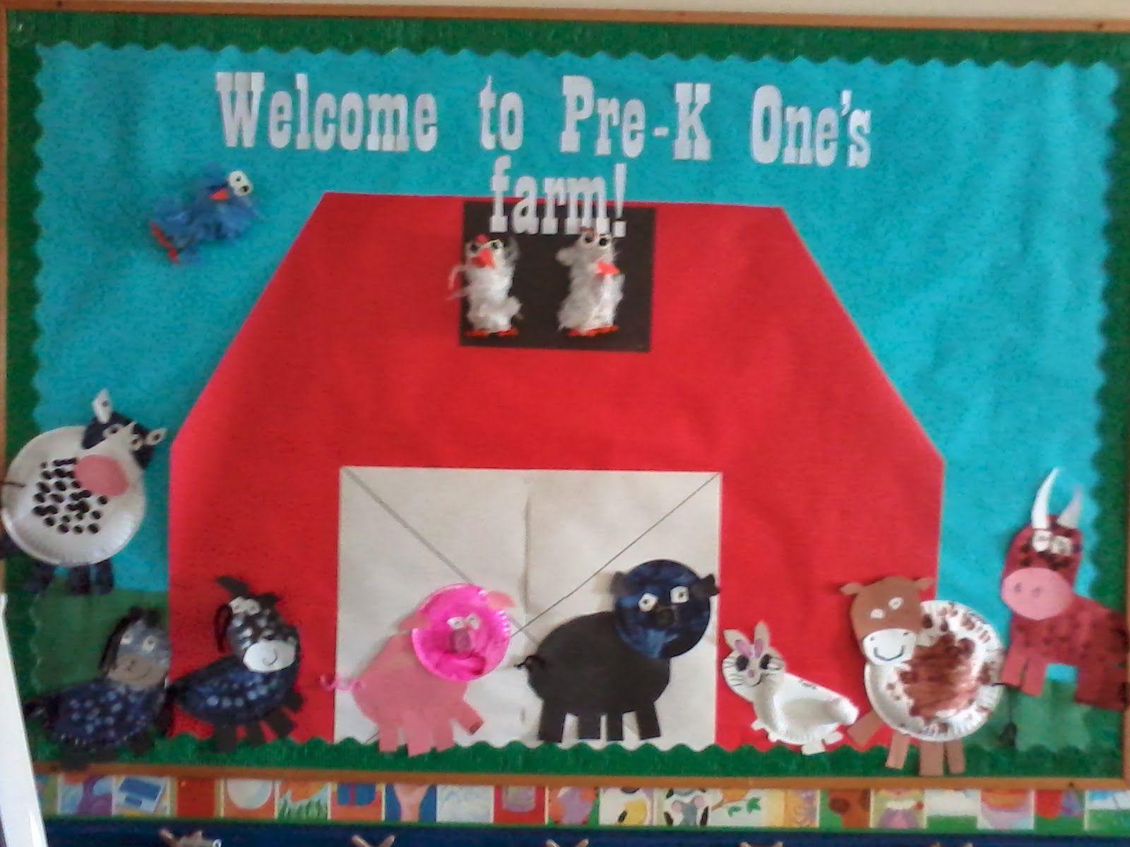 Pre K Preschool Bulletin Board Farm Barn Theme