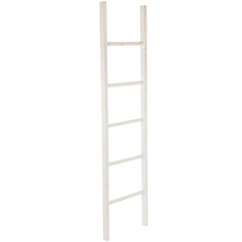 White Decorative Wood Ladder Wood Decor Wood Ladder Ladder Decor